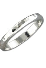 Mark Steel Hammered Wide Band Sterling Silver