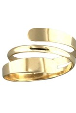 Mark Steel Double ByPass Ring Gold Filled