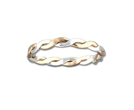 Braid Ring - 2.3mm Mix Metals