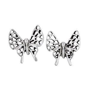 Steven + Clea Open Wing Butterfly Sterling Silver Stud Earrings