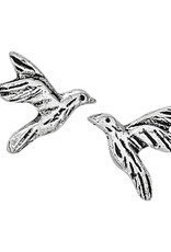 Steven + Clea Hummingbird in Flight Sterling Silver Stud Earrings