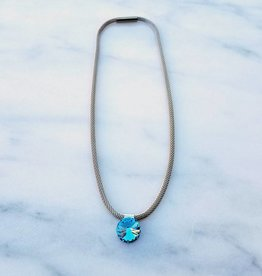 Atlantis Berlin Aqua Swarovski Mesh Magnet Necklace