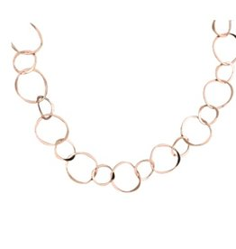 "Mark Steel Rose Gold Filled Staggered Link 18"" Necklace 51"