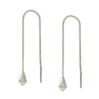 Far Fetched Steadfast Chain Sterling Silver Earrings