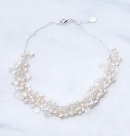 Marpa Eager White Silk Thread Short Necklace
