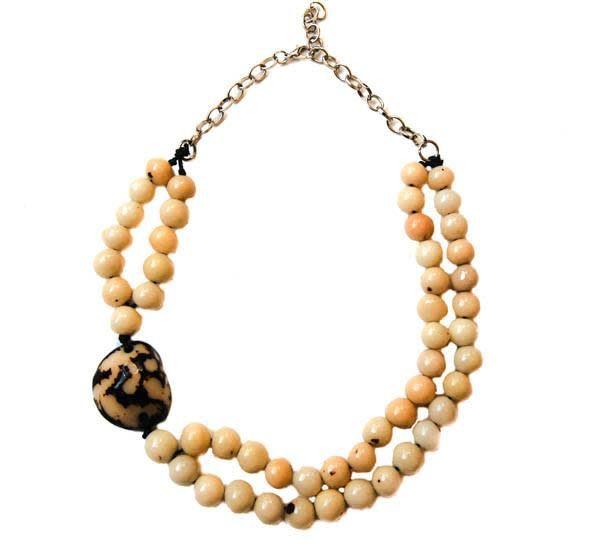 Angela Sanchez Natural Tado Acai Berry Necklace