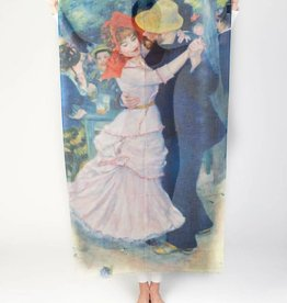 Printed Village Dance at Bougival Pierre-Auguste Renoir MFA Boston Collection Scarf