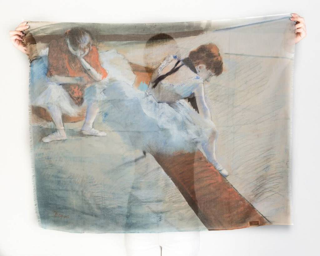 Printed Village Dancers Resting Edgar Degas MFA Boston Collection Scarf