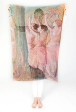 Printed Village Dancers in Roses Edgar Degas MFA Boston Collection Scarf