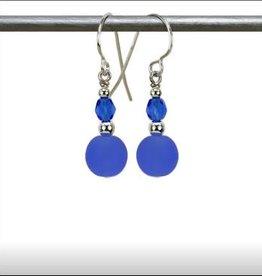 Austin Cake Ear Bob Earrings Ocean Blue