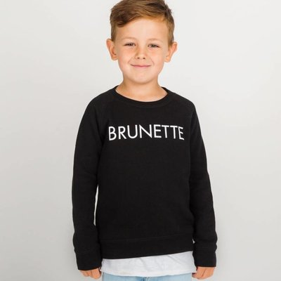 Little Babes by Brunette the Label Brunette Kids Crew - Black