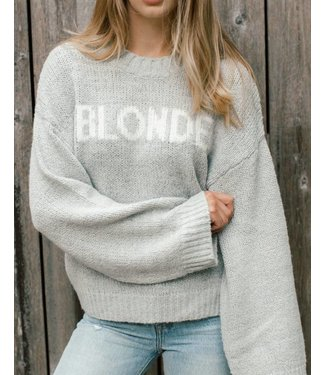 Brunette the Label Yes Girl Sweater - Blonde