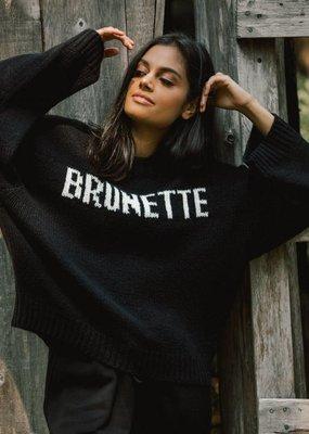 Brunette the Label Yes Girl Sweater - Brunette