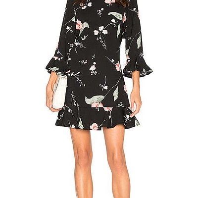 Mink Pink Floriana Cut Out Back Dress