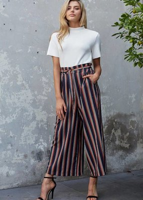 Mink Pink Stripe Cropped Trousers