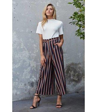 Mink Pink Stripe Cropped Trousers