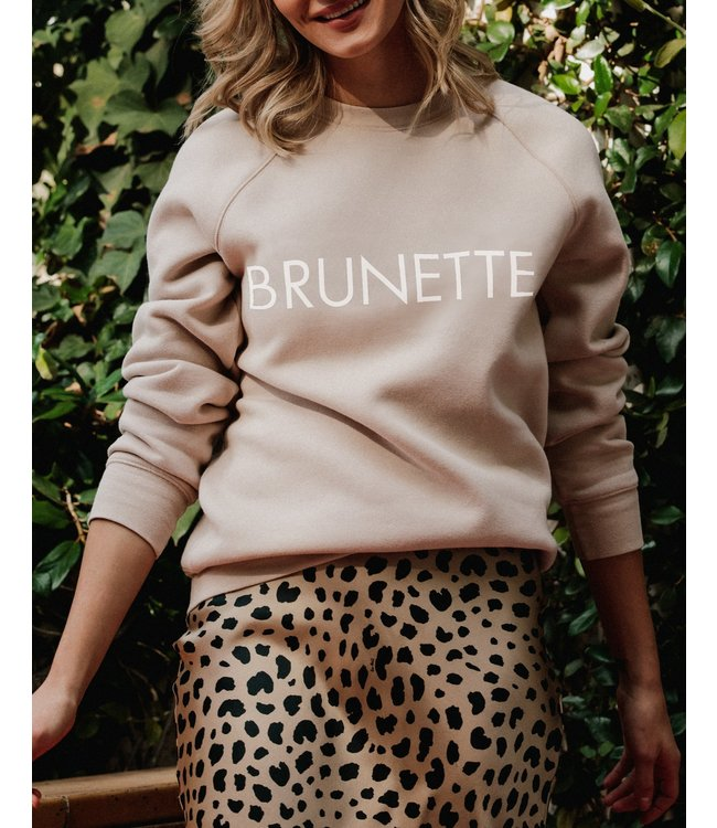 Brunette the Label Brunette Crew - Almond