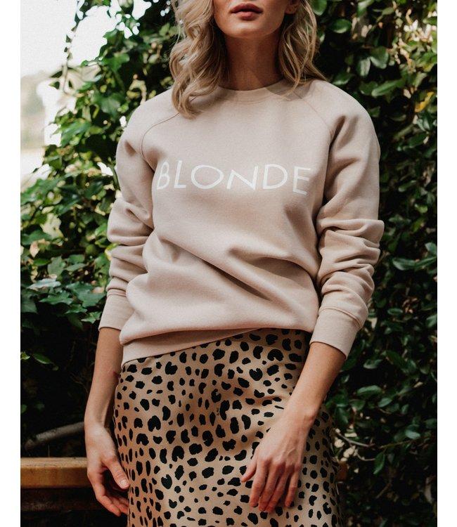 Brunette the Label Blonde Crew - Almond