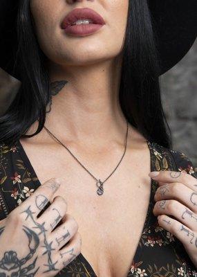 Brass & Unity Charm Necklace - Black