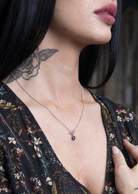 Brass & Unity Charm Necklace - Silver