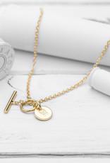 Brass & Unity Charm Necklace - Gold