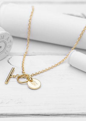 Brass & Unity Charm Necklace - Gold