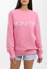 Brunette the Label Brunette Crew - Hot Pink