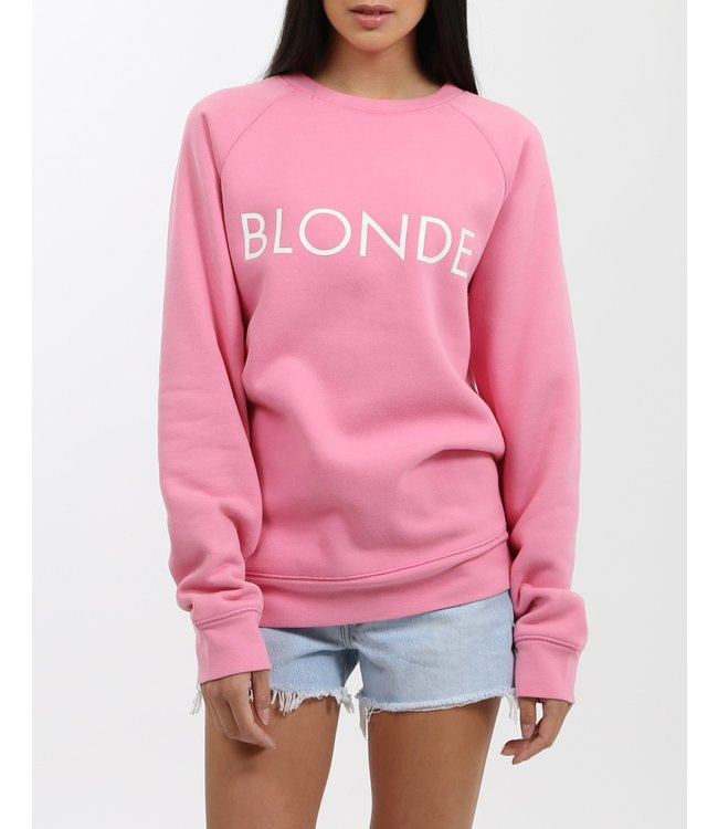 Brunette the Label Blonde Crew - Hot Pink