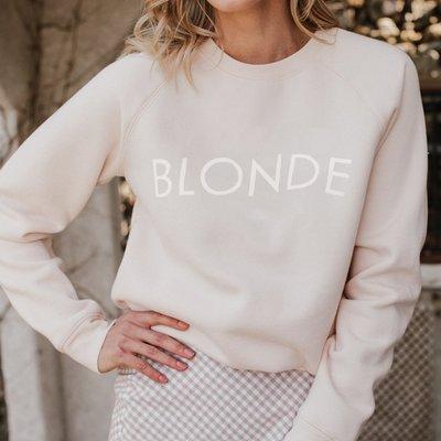 Brunette the Label Blonde Crew - Peach