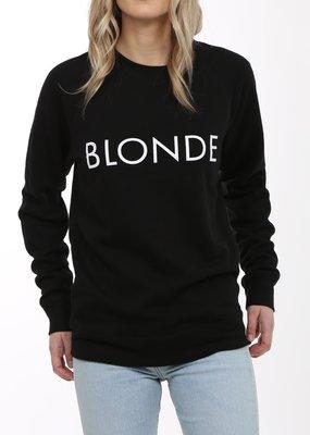 Brunette the Label Blonde Crew - Black