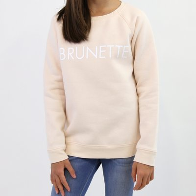 Little Babes by Brunette the Label Brunette Kids Crew - Peach