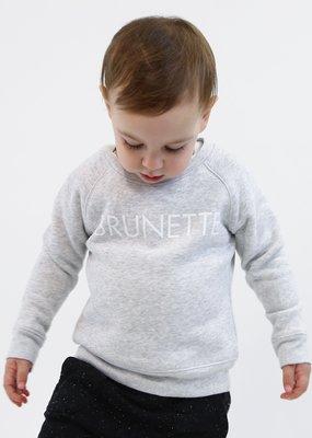 Little Babes by Brunette the Label Brunette Kids Crew - Pebble