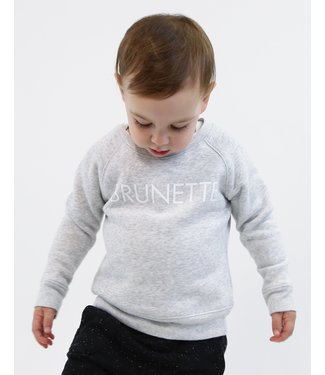 Little Babes by Brunette the Label Brunette Kids Crew - Pebble