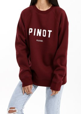 Brunette the Label Pinot Please Crew - Burgundy