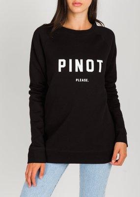 Brunette the Label Pinot Please Crew - Black