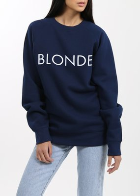 Brunette the Label Blonde Crew - Navy