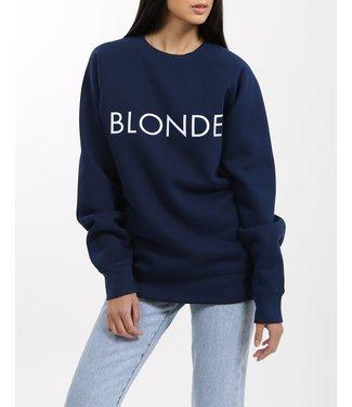 Brunette the Label Blonde Crew - Navy