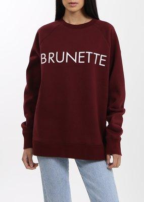 Brunette the Label Brunette Crew - Burgundy