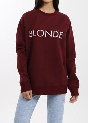 Brunette the Label Blonde Crew - Burgundy