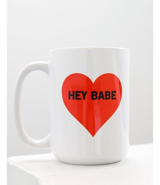 Brunette the Label Hey Babe Mug - Red