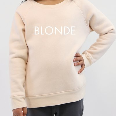 Little Babes by Brunette the Label Blonde Kids Crew - Peach