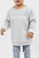 Little Babes by Brunette the Label Blonde Kids Crew - Pebble Grey