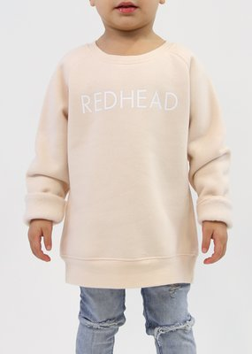 Little Babes by Brunette the Label Redhead Kids Crew - Peach