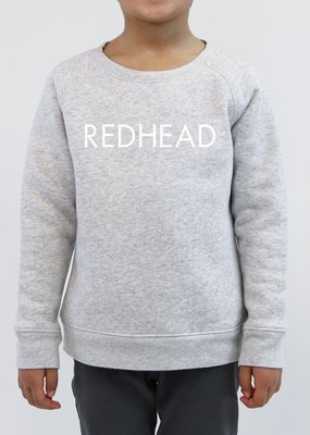 Little Babes by Brunette the Label Redhead Kids Crew - Pebble Grey