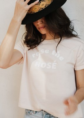 Brunette the Label Raise the Rose Cropped Tee