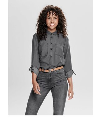 Only Jill Fitted Denim Shirt