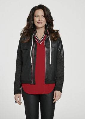 Katherine Barclay Faux Leather Jacket