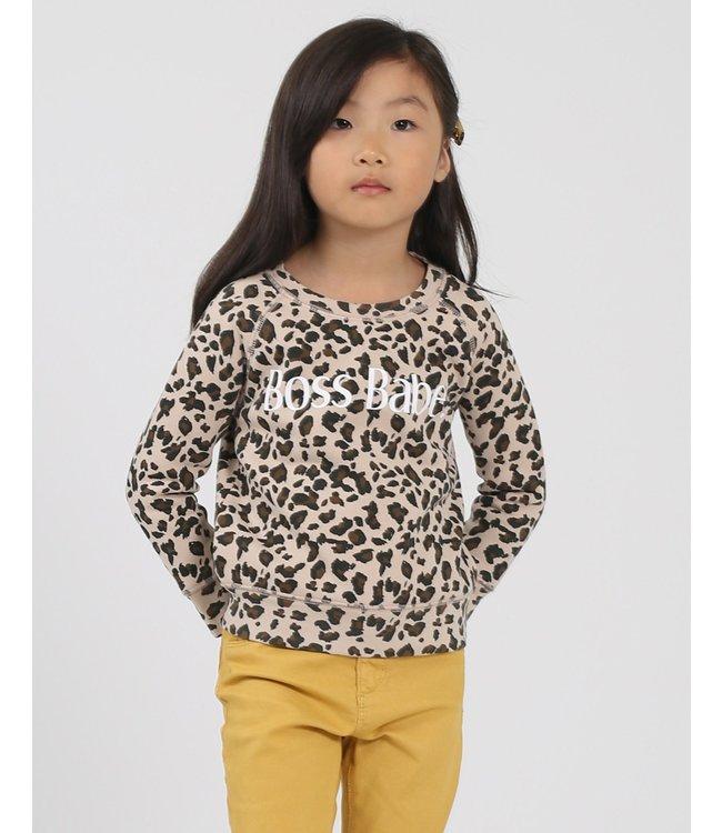 Little Babes by Brunette the Label Boss Babe Kids - Leopard
