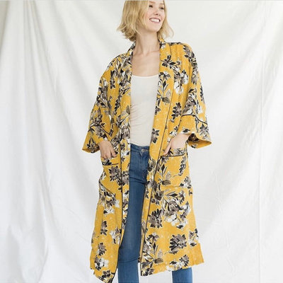 Mystree Printed Kimono