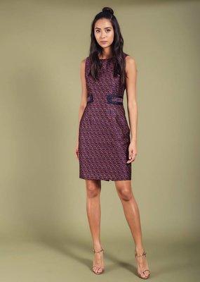 Darling Lorraine Tile Jaquard Dress